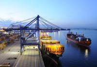 Dawn At The Port Of Baltimore By Bill McAllen