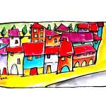 """PORTUGUESE  VILLAGES  # 1"" by saracatenacolorfulart"