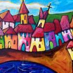 """""""VILLAGGIO  SICILIANO  ( SICILIAN VILLAGE ) - ITALY"""" by saracatenacolorfulart"""