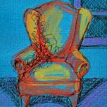 """Blue Room with Chair"" by carolhoughton"