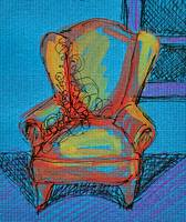 Blue Room with Chair
