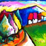 """""""HOUSES  IN  UMBRIA - ITALY"""" by saracatenacolorfulart"""