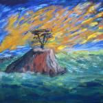 """""""A Lone Cedar"""" by ArtByLinda"""