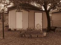 Shed in Sepia