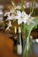 Flowers on Bar at the Inn at Cedar Falls by Jim Cr