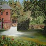 """The Red Mill"" by paintingsbyashley"