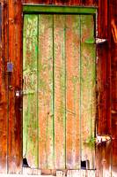 Colorful Old Barn Wood Door