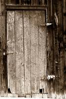 Old Barn Wood Door BW