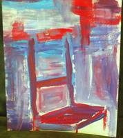 Chair in Blue and Red