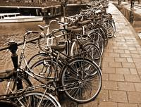 Bike Parking -- Amsterdam in November SEPIA
