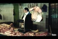 Meat seller at Tbilisi Market