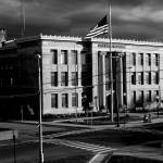 """BRIDGEPORT CITY HALL BEFORE A STORM 2008"" by 826paranormal"