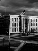 BRIDGEPORT CITY HALL BEFORE A STORM 2008