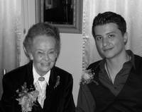 LORRAINE WARREN AND RYAN BUELL AT THE HALLOWEEN DI