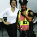 """Carla Gugino at Righteous Kill movie set , Bridgep"" by 826paranormal"