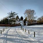 """Snow Tracks, Rolleston on Dove (21946-RDA)"" by rodjohnson"