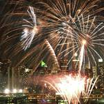 """Fireworks over the Hudson River"" by ArtisticPhotos"
