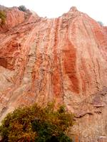 Ruddy Red-Orange sedimentary rocks.