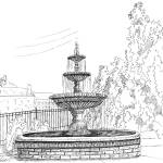 """Prattville Fountain"" by BRHedrickGallery"