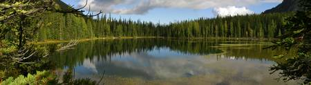 Lower Crater Lake Panorama, Okanogan-Wenatchee Nat