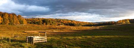 Fall panorama at Morse Farm, Montpelier, Vermont