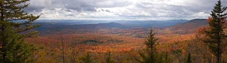 Mount Hunger Fall Panorama, Vermont