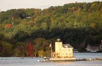 Lighthouse at the Roundout Creek on the Hudson Riv