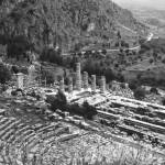 """Temple of Apollo and Theatre, Delphi 1960 B&W"" by PriscillaTurner"