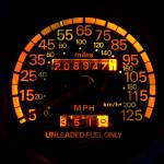 """Speedometer night view"" by hapyday"