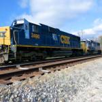 """CSX 2490 & 8639 at the white line"" by Pauljs"