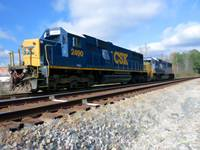 CSX 2490 & 8639 at the white line