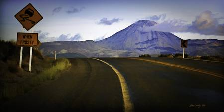 Mt Ngauruhoe from the Desert Road New Zealand