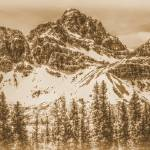 """Crowfoot Mountain and Crowfoot Glacier Panorama"" by bobb"