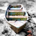 """Beached Boat Hand Color II"" by Cynthia_Burkhardt"