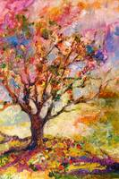 Grandmother's Apple Tree Oil on canvas by Ginette