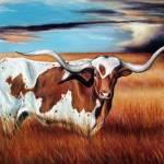 """Lone Longhorn"" by UngerArt"