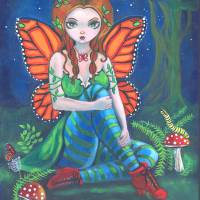 Fairy Monarch Art Prints & Posters by Lyn Cook