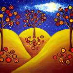 """Fall Whimsical Trees"" by reniebritenbucher"