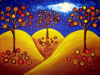 Fall Whimsical Trees