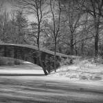 """Foot Bridge and Frozen Pond"" by keithdotson"