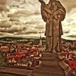 """Prague Statue Cesky Krumlov-Edit"" by madeline"
