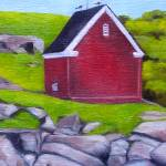"""nubble well house"" by traciebrownart"
