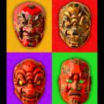 """Noh Theater Masks"" by bobb"
