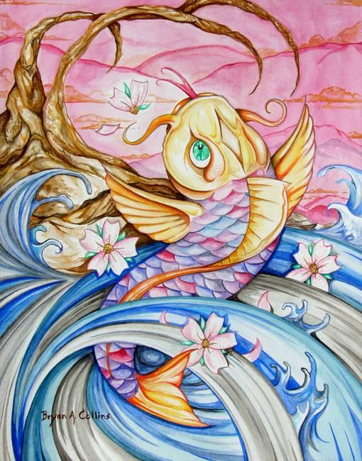 Stunning koi fish artwork for sale on fine art prints for Koi prints for sale