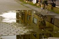 Bicycle Reflections - East River, NYC