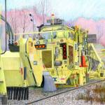 """CSX track repair vehicle colored pencil"" by Pauljs"