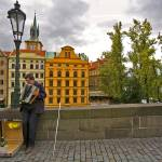 """The Blind Accordian Player, Prague"" by madeline"
