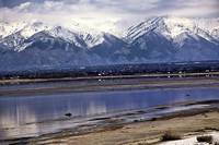 Salt Lake and the Mountains