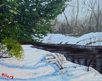 Lizard Creek in winter (the little red tree)