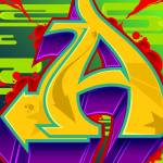 """Graffiti Letter A"" by Bluemos"